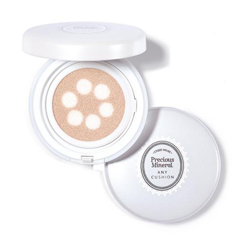 [ETUDE HOUSE] Precious Mineral Moist Any Cushion - SPF 50+/PA+++, 15g (#1 Light Beige)