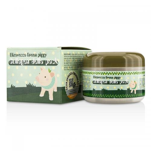 [ELIZAVECCA] Green Piggy Collagen Jella Pack Pig Mask, 4.3 Ounce