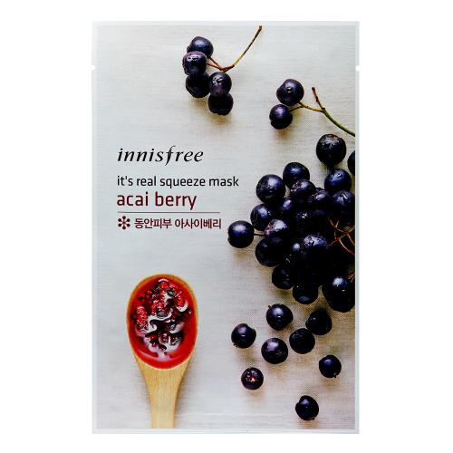 [INNISFREE] It's real squeeze mask sheet (Acai Berry) X 10 Pack