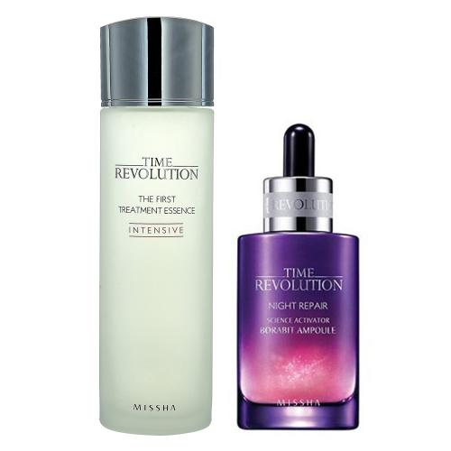 [MISSHA] Time Revolution The First Treatment Essence (150 ml) + Night Repair Science Activator Ampoule Serum (50ml)