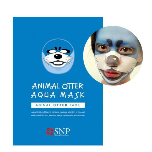 [SNP] Animal Otter Wrinkle Mask 0.85Oz/25Ml x 10 pack - 1 Box