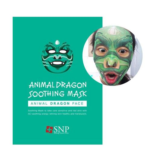 [SNP] Animal Dragon Soothing Mask 0.85Oz/25Ml x 10 pack - 1 Box