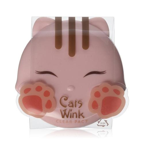 [TONYMOLY] Cats Wink Clear Pact - 02. Clear Beige Powder 11g