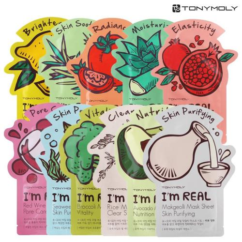 [TONYMOLY] I'm Real Mask Sheet for All Skin Types 11 Types / 11 Pack