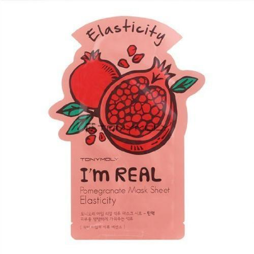 [TONYMOLY] I'm Real Skin Care Facial Mask Sheet Package (Pomegranate - Elasticity) X 10 Pack