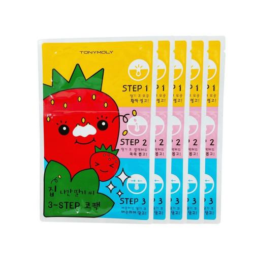 [TONYMOLY] Seedless Strawberry Seeds 3-step, Nose Pack 6g X 5 Pack - Remove Black Heads!