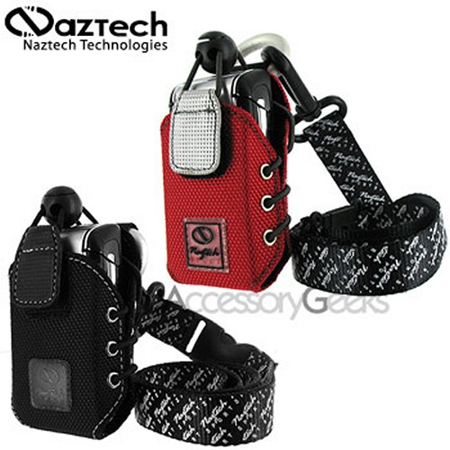 Naztech Sport Phone Case Gift Set - Black & Red/Silver