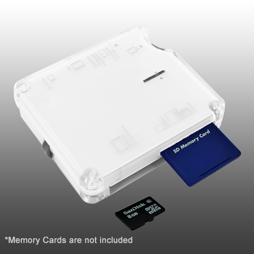 Premium USB 2.0 High Speed 15 in 1 USB Memory Card Reader - White