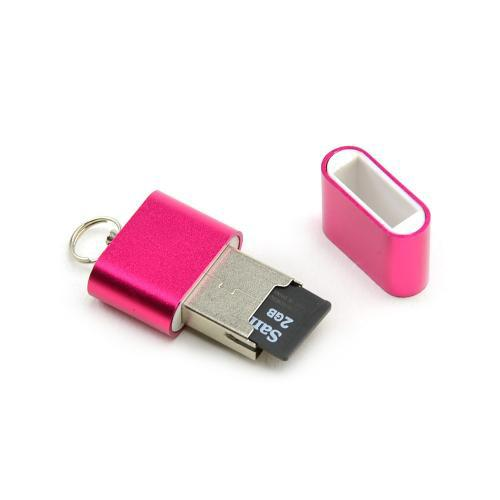 Manufacturers Hot Pink Aluminum MicroSD USB Card Reader Silicone Cases / Skins