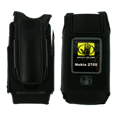 Original Body Glove Nokia Shade 2705 Glove Fitted Case w/ Detachable Clip, CRC91270 - Black