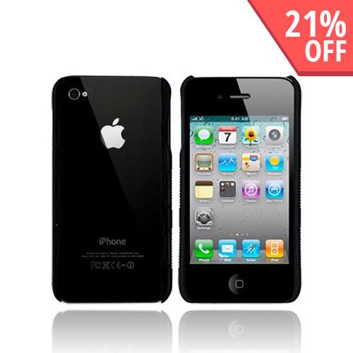 Original Body Glove Apple iPhone 4 Snap-On Fringe Hard Case,CRC91470 - Clear Back/Black Sides (AVAILABLE NOW)
