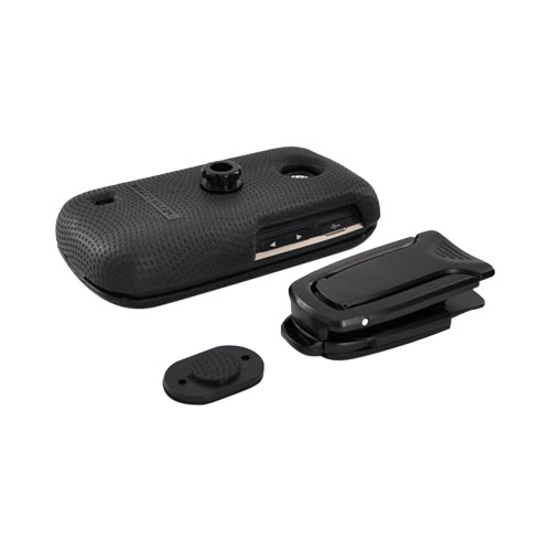 Original BodyGlove LG Cosmos Touch VN270 Snap-on Case w/ Kickstand Belt Clip, CRC91666 - Black