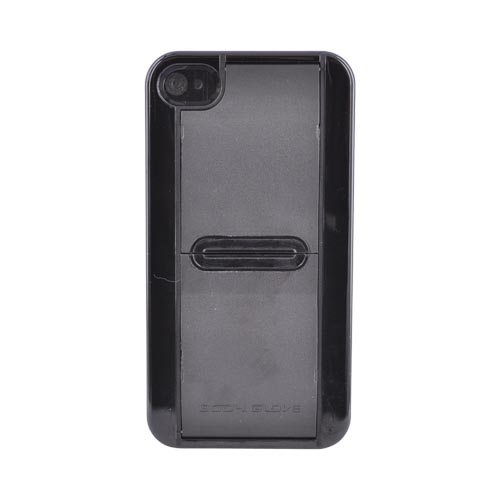 Original Body Glove AT&T/Verizon Apple iPhone 4, iPhone 4S Hard Case w/ Stand and Texting Feature, CRC91861 - Black