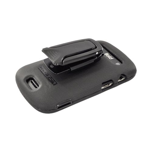 Original Body Glove Blackberry Bold 9930, 9900 Snap-On Hard Case w/ Detachable Kickstand Belt Clip, CRC92179 - Black