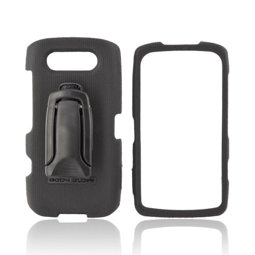 Original Body Glove Blackberry Torch 9850 Snap-On Hard Case w/ Detachable Kickstand Belt Clip, CRC92180 - Black