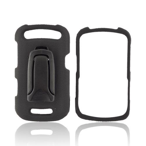 Original Body Glove Blackberry Curve 9360/ Apollo Snap-On Hard Case w/ Detachable Kickstand Belt Clip, CRC92307 - Black
