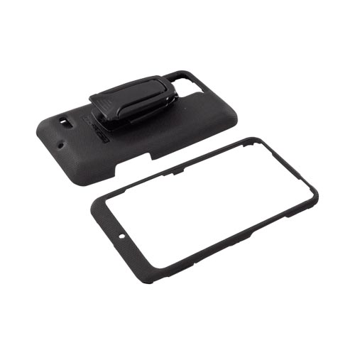 Original Body Glove Motorola Droid Bionic XT875 Snap-On Case w/ Detachable Kickstand Belt Clip, CRC92401 - Black