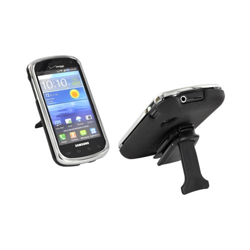Original Body Glove Samsung Stratosphere Snap-On Case w/ Detachable Kickstand Belt Clip, CRC92470 - Chrome/ Black