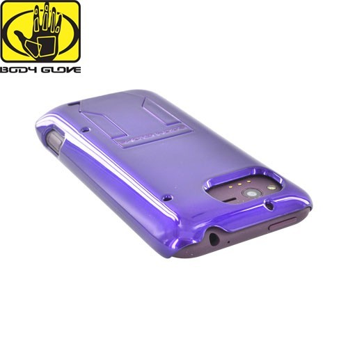 Original Body Glove HTC Rhyme Hard Snap-On Case w/ Kickstand, CRC92480 - Purple