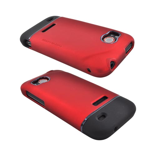 Original Body Glove HTC Rezound Slide-On Icon Rubberized Hard Case, CRC92482 - Red/ Black