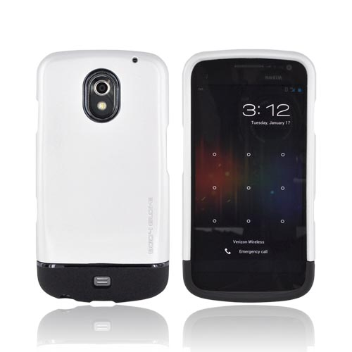 Original Body Glove Samsung Galaxy Nexus Slim Slide-On Icon Rubberized Hard Case, CRC92493 - Silver/ Black