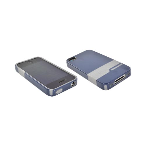 Original Body Glove AT&T/ Verizon Apple iPhone 4, iPhone 4S Snap-On Diamond Hard Case, CRC92508 - Blue/ Gray