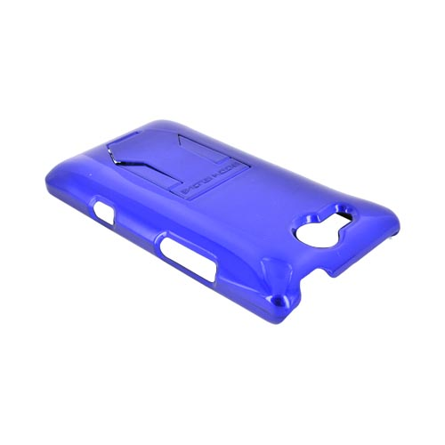 Original Body Glove LG Lucid 4G Slim Protective Hard Case w/ Built-In Pull Out Kickstand, CRC92588 - Blue