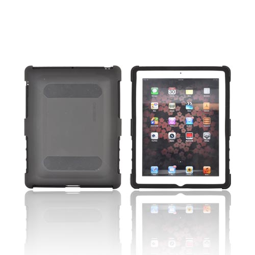 Original Seidio Apple iPad 2, New iPad Active Rubberized Hard Case Over Silicone w/ Multi-Purpose Stand, CSK5IPD2-BK - Black