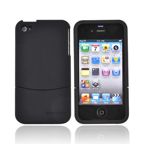 Original Seidio Apple Verizon/ AT&T iPhone 4, iPhone 4S Innocase Surface Rubberized Hard Case, CSR3IPH4P-BK - Black