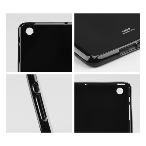 Black Anti-Slip TPU Crystal Silicone Skin Case & Free Screen Protector for Apple  iPad Mini 2/3