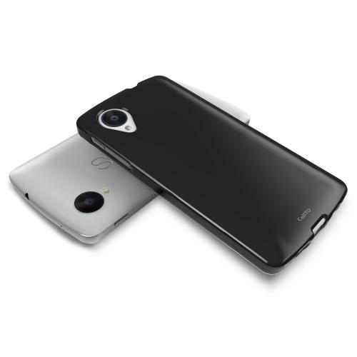 Black Anti-Slip TPU Crystal Silicone Skin Case & Free Screen Protector for Google Nexus 5