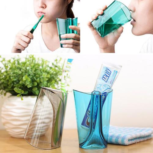 Gargling Cup w/ Toothbrush Holder [Green]