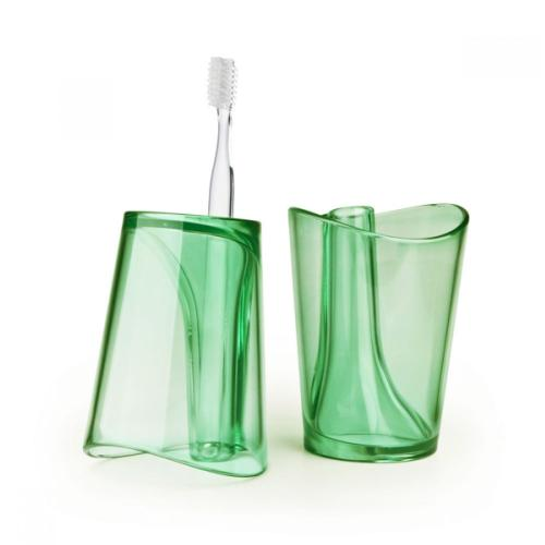 Universal Gargling Cup w/ Toothbrush Holder [Green]