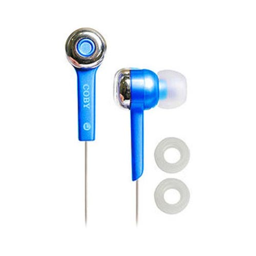 Original Coby Jammerz Digital Stereo Earphones (3.5mm), CVE52-BU - Turquoise