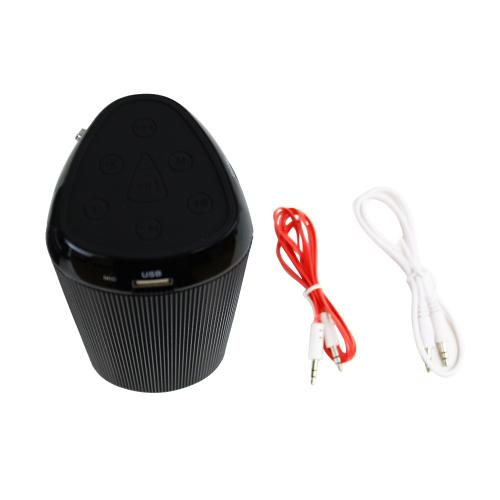 CycloneSound FLASH Portable Mini Bluetooth Music Speaker w/ Memory Card Slot & LED Lights [Black]