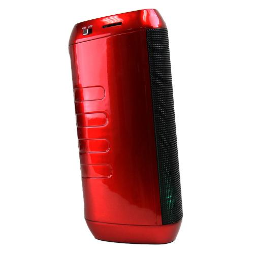 CycloneSound FLASH Portable Mini Bluetooth Music Speaker w/ Memory Card Slot & LED Lights [Red]