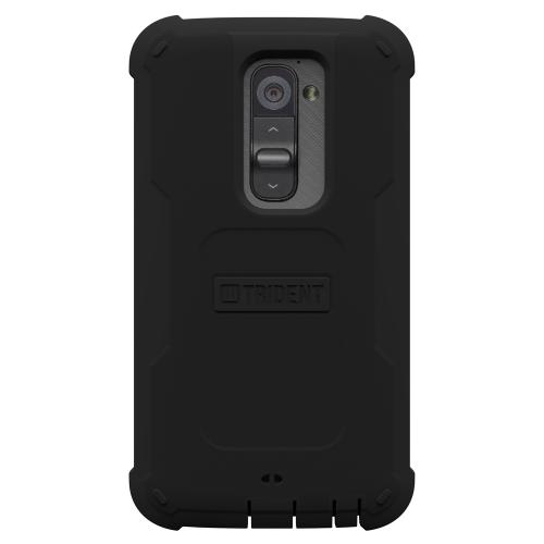 Trident Black Cyclops Series Thermo Poly Elastomer (Super TOUGH) Hard Case w/ Built-In Screen Protector for LG G2 (All Carriers) - CY-LG-G2-BK