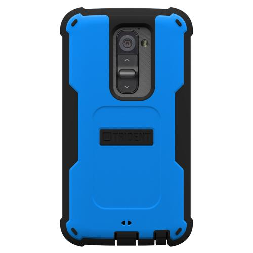 Trident Blue/ Black Cyclops Series Thermo Poly Elastomer (super Tough) Hard Case W/ Built-in Screen Protector For Lg G2 (all Carriers!)