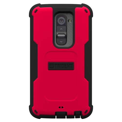 Trident Red/ Black Cyclops Series Thermo Poly Elastomer (Super TOUGH) Hard Case w/ Built-In Screen Protector for LG G2 (ALL Carriers!)- CY-LG-G2-RED