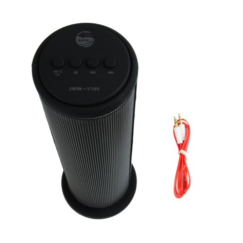 CycloneSound SPARK Portable Bluetooth Tower Speaker w/ Memory Card Slot & LED Lights [Black]