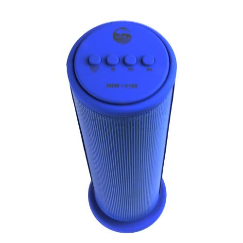 CycloneSound SPARK Portable Bluetooth Tower Speaker w/ Memory Card Slot & LED Lights [Blue]