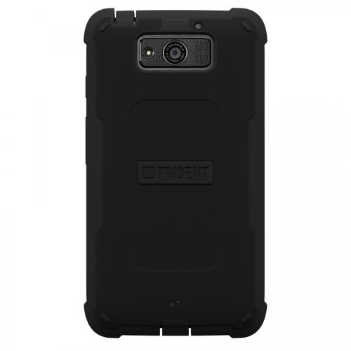 Trident Black Cyclops Series Thermo Poly Elastomer (Super TOUGH) Hard Case w/ Built-In Screen Protector for Motorola Droid Maxx - CY-MOT-DRMAXX-BK