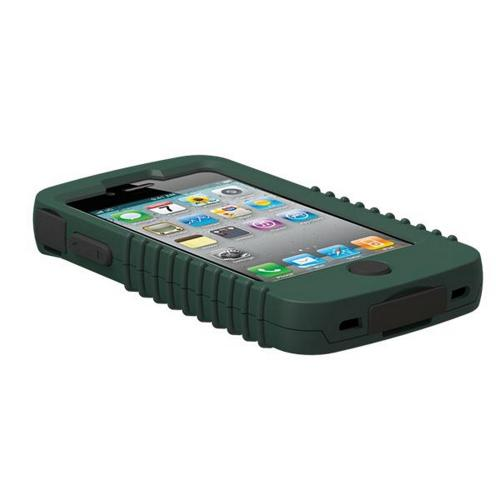 Genuine Trident Cyclops Ii At&t;/ Verizon Apple Iphone 4, Iphone 4s Rubberized Hard Case On Silicone W/ Built-in Screen Protector - Green/ Black