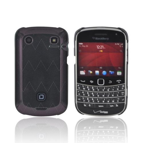 Original Dicota Blackberry Bold 9900, 9930 Hard Case, D30324 - Gray Zig Zag Design on Black