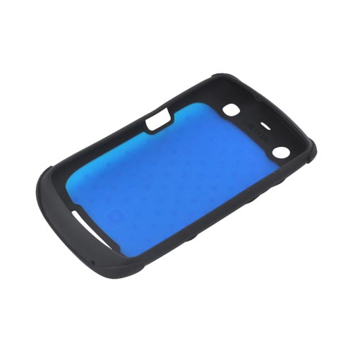 Original Dicota Blackberry Curve 9360 Textured Silicone Case - D30326 - Blue/ Black