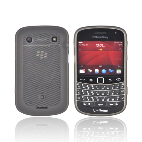 Original Dicota Blackberry Bold 9900, 9930 Crystal Silicone Case, D30328 - Lines on Transparent Smoke