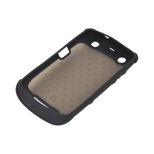 Original Dicota Blackberry Curve 9360 Textured Silicone Case - D30372 - Smoke/ Black