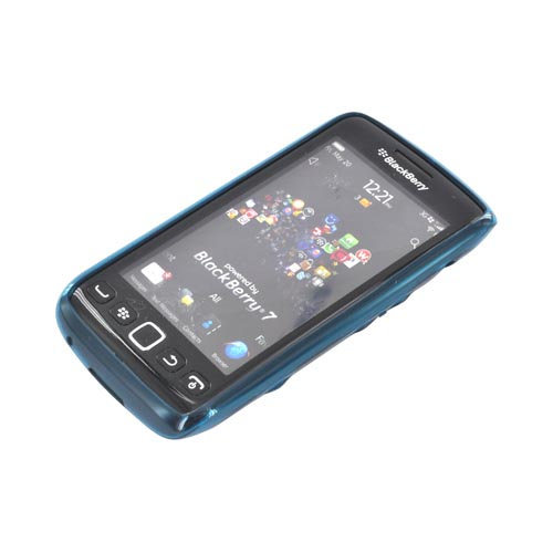 Original Dicota Blackberry Torch 9860, 9850 Textured Crystal Silicone Case, D30375 - Turquoise