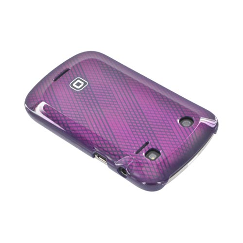 Original Dicota Blackberry Bold 9900, 9930 Hard Case, D30376 - Purple Lines on Magenta