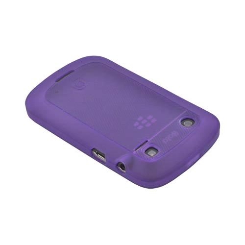Original Dicota Blackberry Bold 9900, 9930 Crystal Silicone Case, D30379 - Lines on Purple